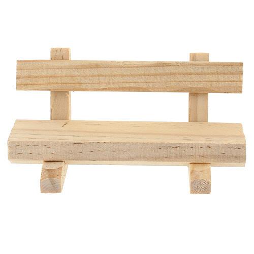 Panchina legno 5x10x5 cm presepe 10-12 cm 1