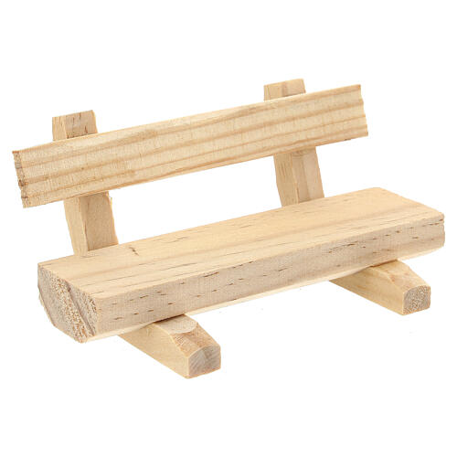 Panchina legno 5x10x5 cm presepe 10-12 cm 2