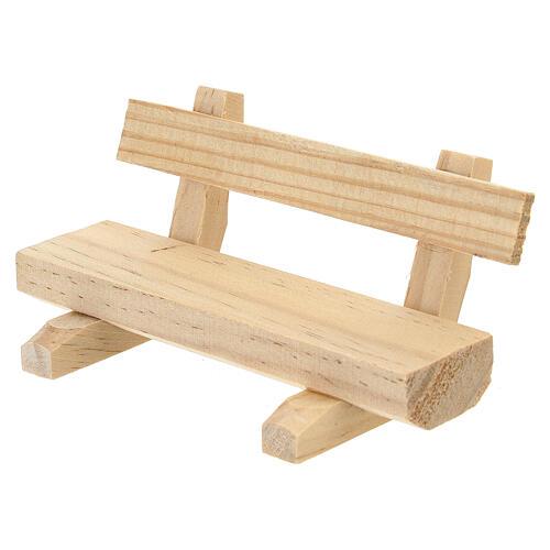 Panchina legno 5x10x5 cm presepe 10-12 cm 3