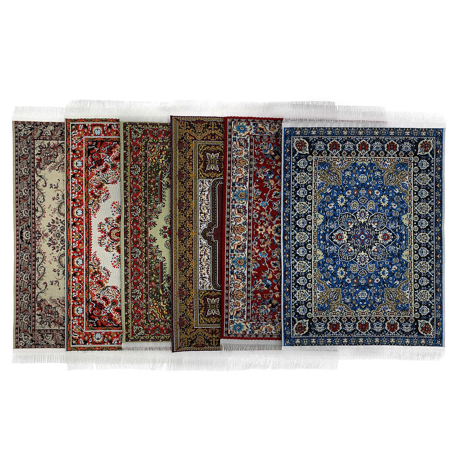 Conjunto 6 tapetes em miniatura 15x10 cm modelos surtidos para presépio 4