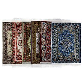 Conjunto 6 tapetes em miniatura 15x10 cm modelos surtidos para presépio s1