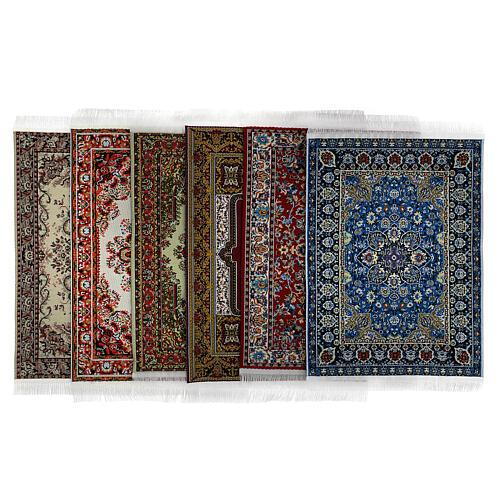 Conjunto 6 tapetes em miniatura 15x10 cm modelos surtidos para presépio 1