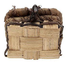 Baú rústico de madeira em miniatura 2,2x4,3x4 cm para presépio com figuras altura média 8 cm, modelos surtidos s3