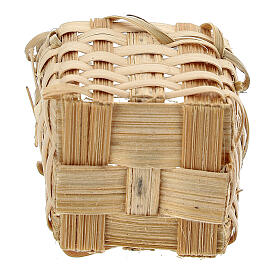 Wicker basket with handles 4x3.5x3 cm Nativity scene 10 cm s3
