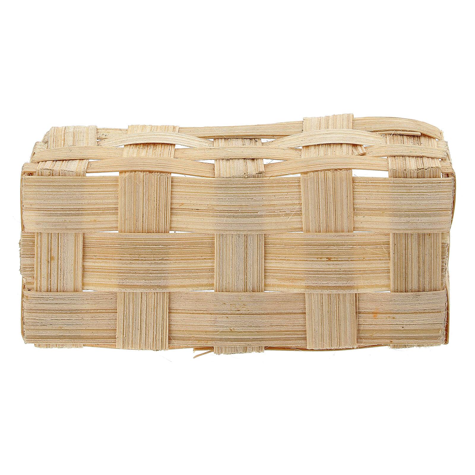 Rectangular basket 5x10x5 cm Nativity scene 10-12 cm 4