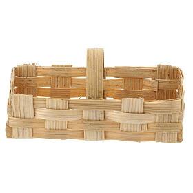 Rectangular basket 5x10x5 cm Nativity scene 10-12 cm s1