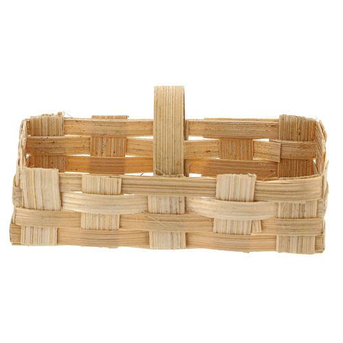 Rectangular basket 5x10x5 cm Nativity scene 10-12 cm 1