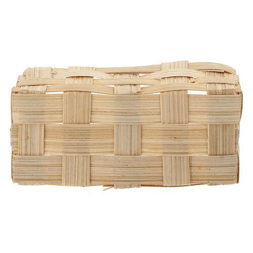 Rectangular basket 5x10x5 cm Nativity scene 10-12 cm 3