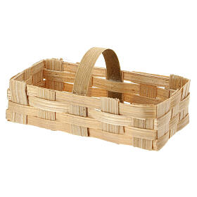 Rectangular basket 5x10x5 cm for Nativity Scene with 10-12 cm figurines s2