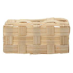 Rectangular basket 5x10x5 cm for Nativity Scene with 10-12 cm figurines s3