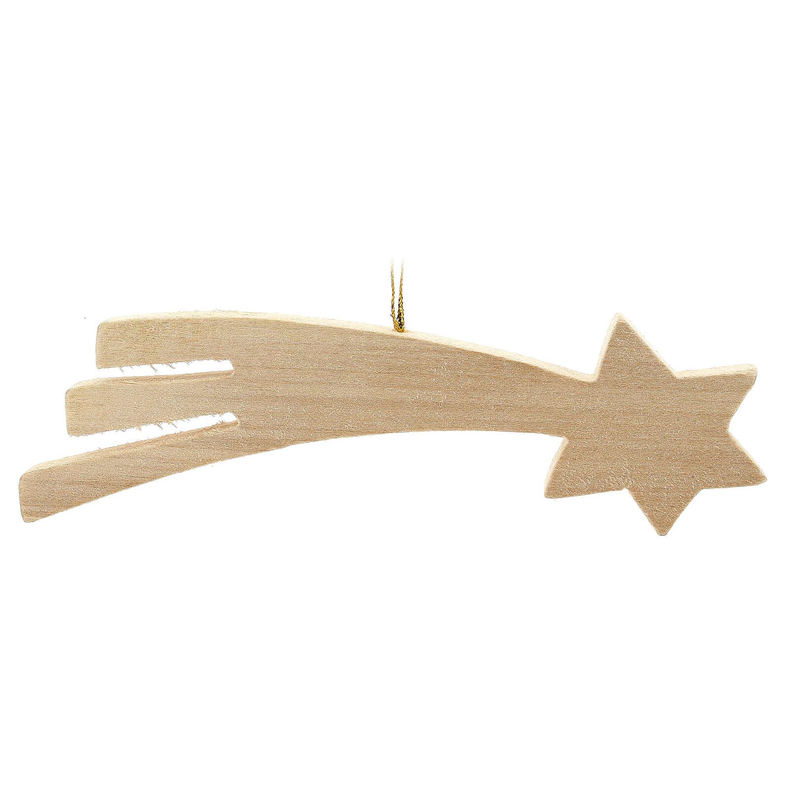 Gwiazda kometa drewno 16 cm 4
