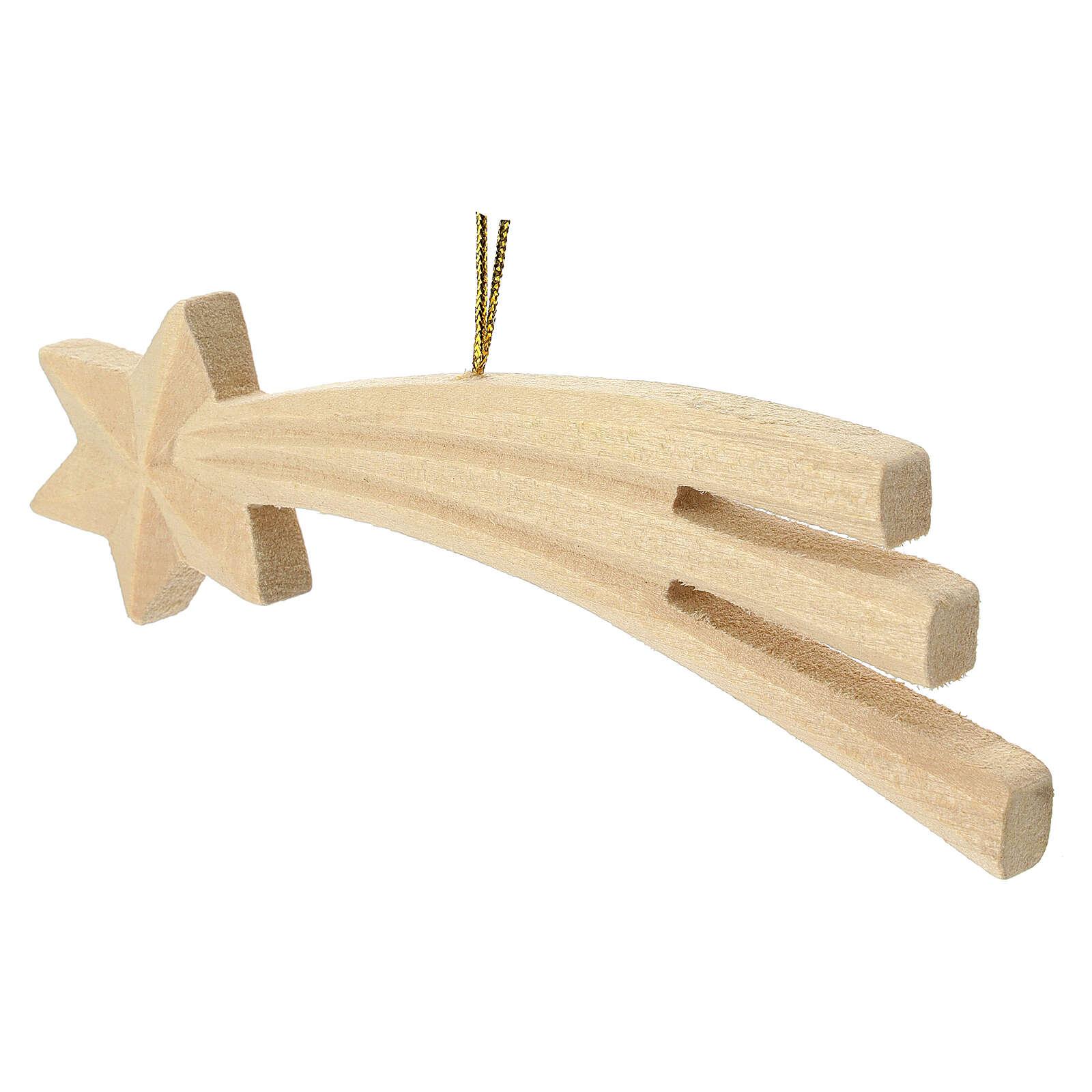 Estrela de Natal madeira 16 cm 4