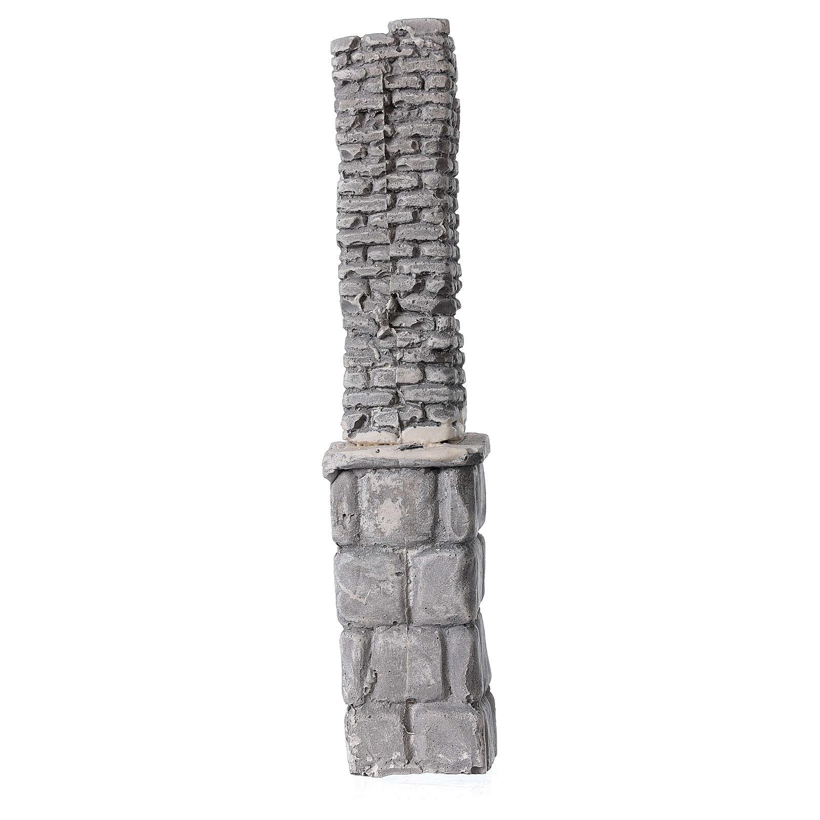 Plaster column for Nativity scene 20x5x5 cm 4