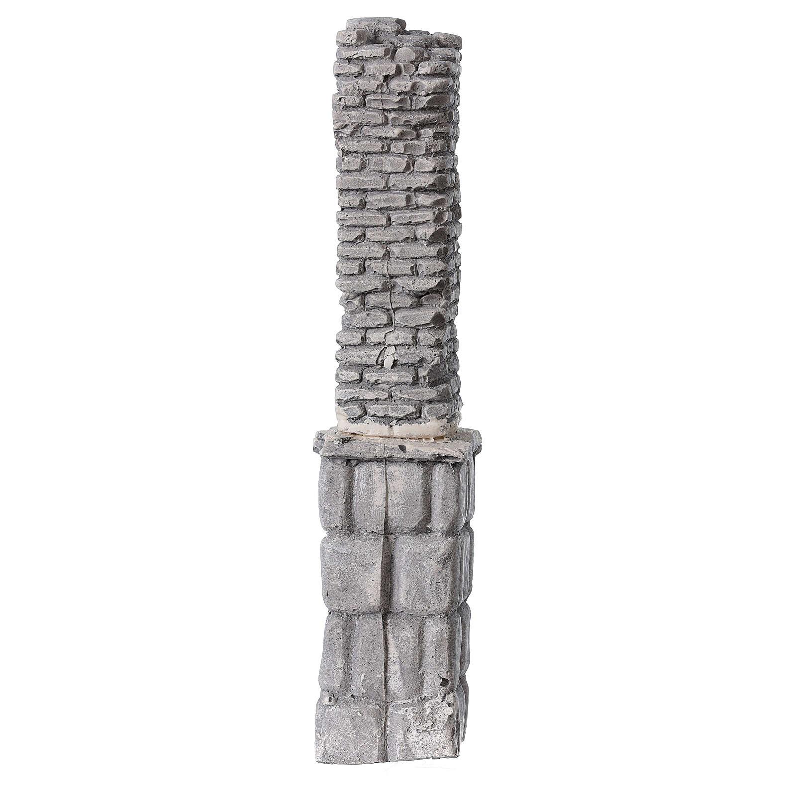 Coluna de gesso em miniatura 19x4x3,5 cm para presépio com figuras altura média 8-14 cm 4