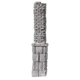Coluna de gesso em miniatura 19x4x3,5 cm para presépio com figuras altura média 8-14 cm s1