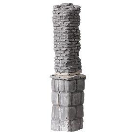 Coluna de gesso em miniatura 19x4x3,5 cm para presépio com figuras altura média 8-14 cm s2