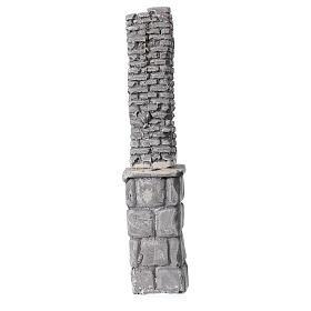 Coluna de gesso em miniatura 19x4x3,5 cm para presépio com figuras altura média 8-14 cm s3