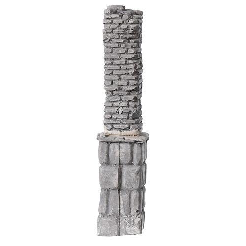Coluna de gesso em miniatura 19x4x3,5 cm para presépio com figuras altura média 8-14 cm 1