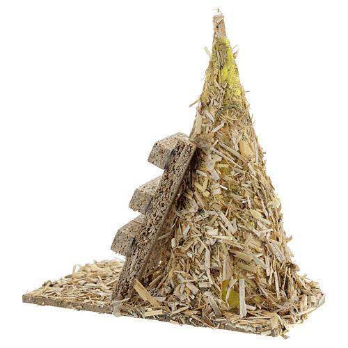 Gerbe crèche avec échelle 12x12x7 cm pour santons 8-10 cm 4
