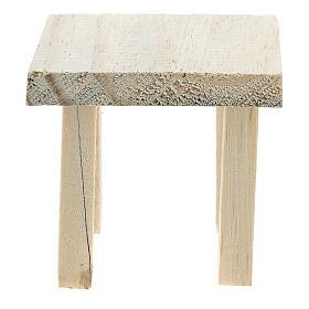 Tavolo in legno 6x7x7 cm sgabelli 4x2x2 cm presepe 14 cm s3