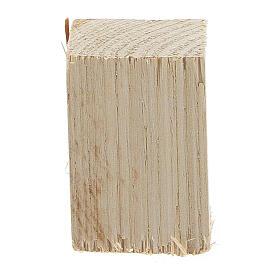 Tavolo in legno 6x7x7 cm sgabelli 4x2x2 cm presepe 14 cm s4