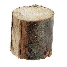 Tavolo rotondo legno 8x8x8 cm con sgabelli presepe 14-16 cm s4