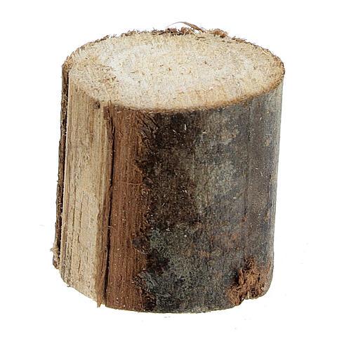 Tavolo rotondo legno 8x8x8 cm con sgabelli presepe 14-16 cm 4