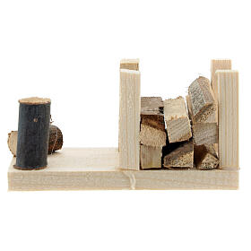 Woodshed 6x12x6 cm for Nativity Scene with 12-14 cm figurines s4