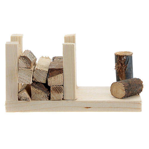 Woodshed 6x12x6 cm for Nativity Scene with 12-14 cm figurines 1