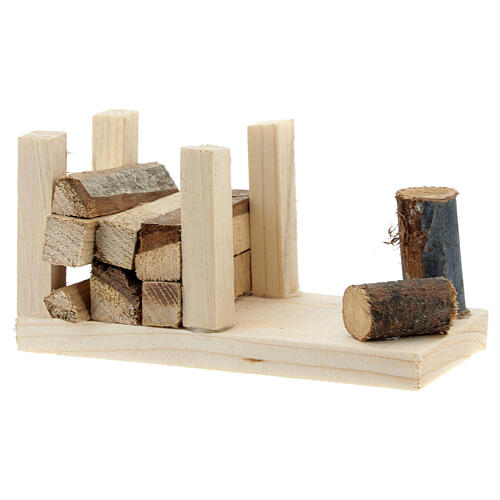 Woodshed 6x12x6 cm for Nativity Scene with 12-14 cm figurines 2