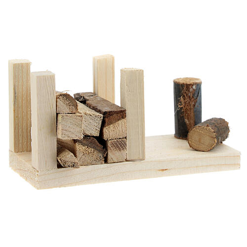 Woodshed 6x12x6 cm for Nativity Scene with 12-14 cm figurines 3