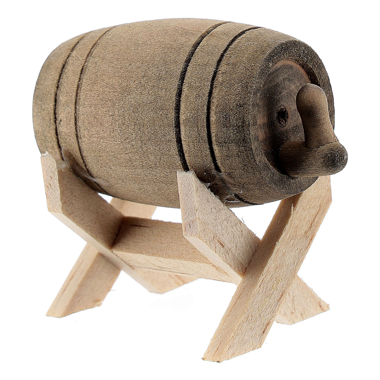 Barril com suporte em miniatura para presépio com figuras altura média 6-10 cm 4