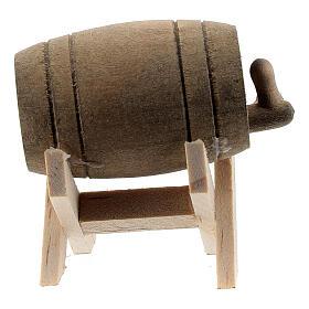 Barril com suporte em miniatura para presépio com figuras altura média 6-10 cm s1