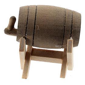 Barril com suporte em miniatura para presépio com figuras altura média 6-10 cm s3