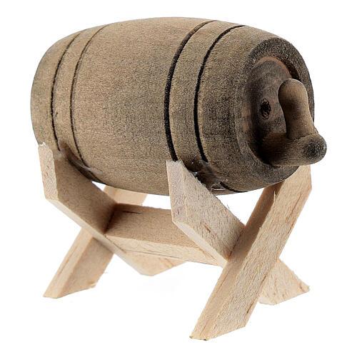 Barril com suporte em miniatura para presépio com figuras altura média 6-10 cm 2