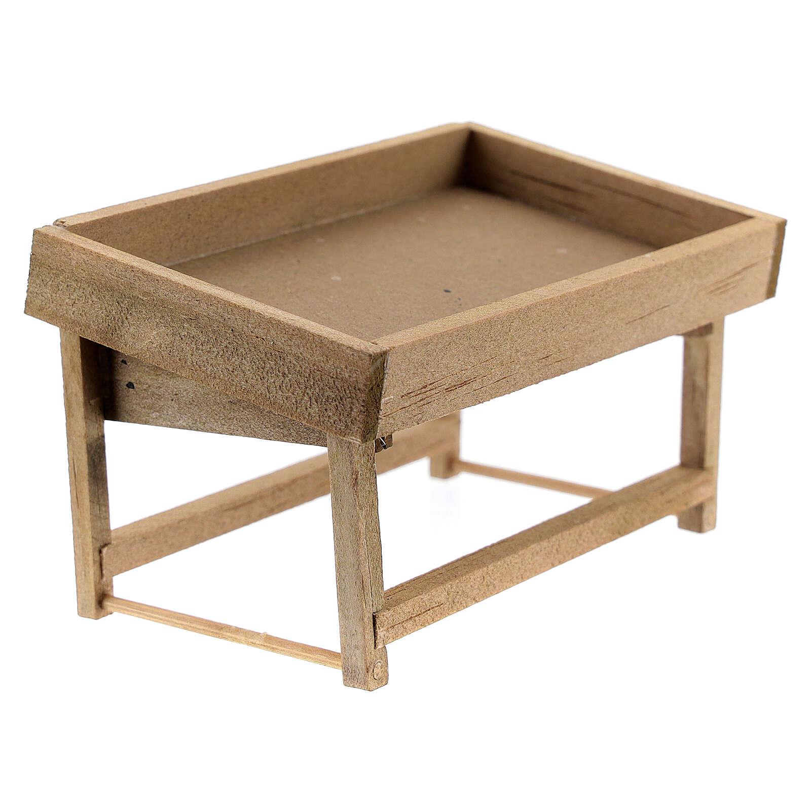 Banchetto mercato legno presepe 8-10 cm 4