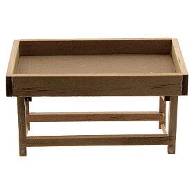 Banchetto mercato legno presepe 8-10 cm s1