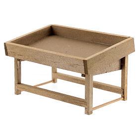 Banchetto mercato legno presepe 8-10 cm s2