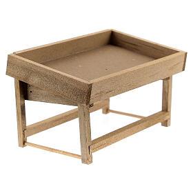 Banchetto mercato legno presepe 8-10 cm s3