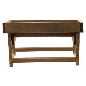 Banchetto mercato legno presepe 8-10 cm s4