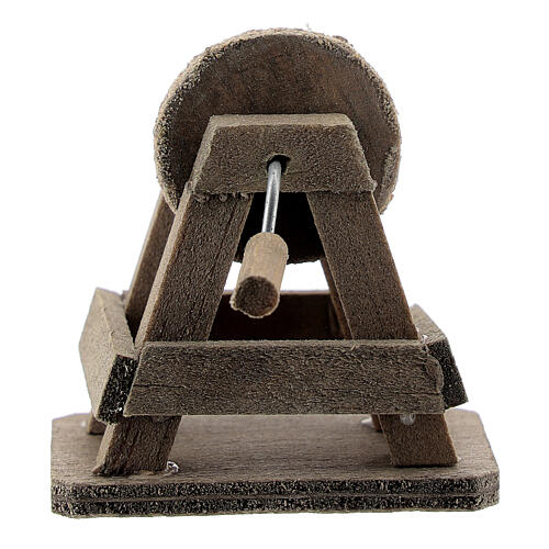 Rebolo para afiar miniatura madeira para presépio com figuras altura média 8-10 cm 3