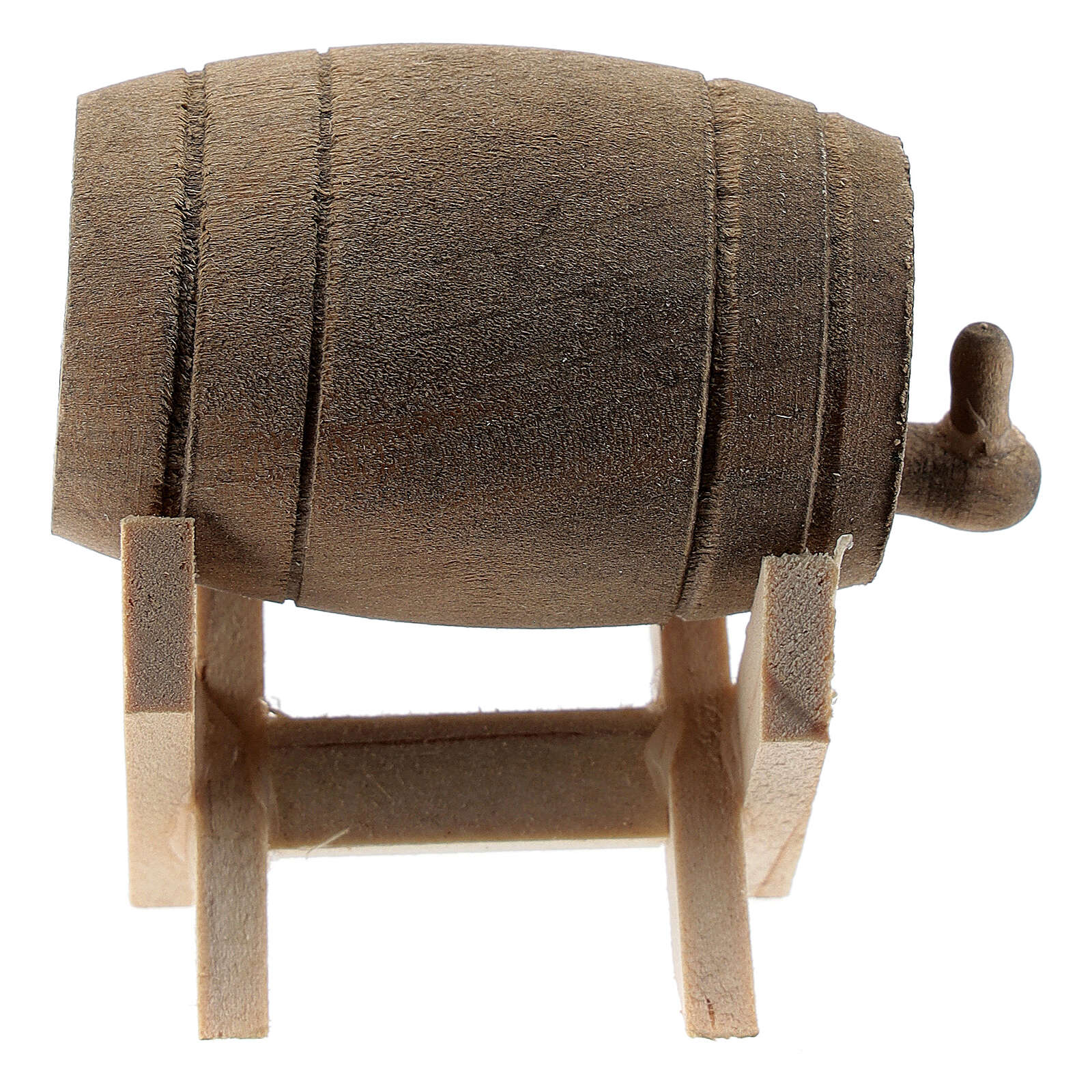 Wood cask with stand for Nativity Scene with 6-10 cm figurines 4