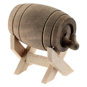 Wood cask with stand for Nativity Scene with 6-10 cm figurines s2