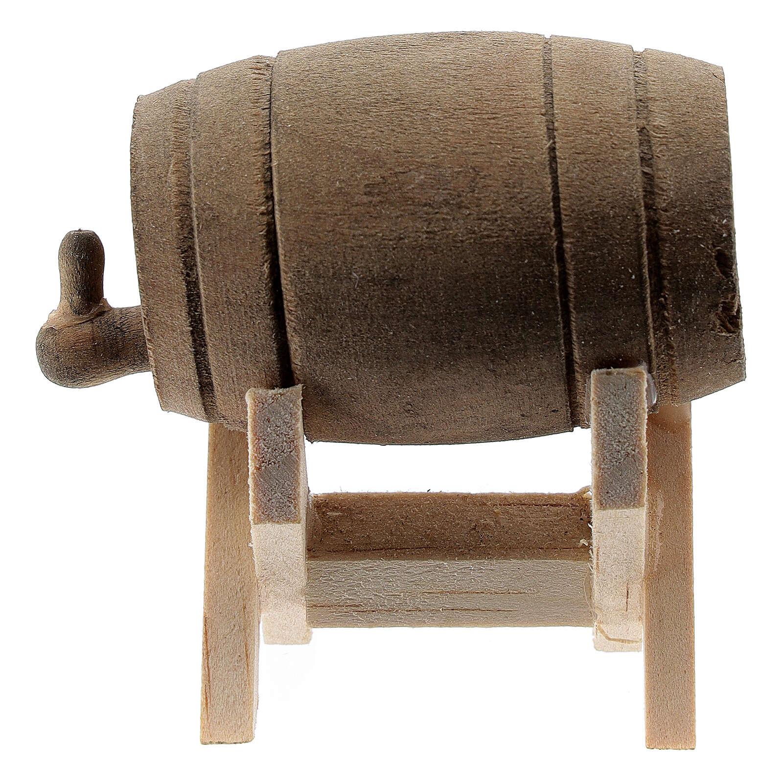 Botte legno con supporto presepe 6-10 cm 4
