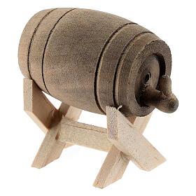 Barril de madeira com suporte, miniatura para presépio com figuras altura média 6-10 cm s2