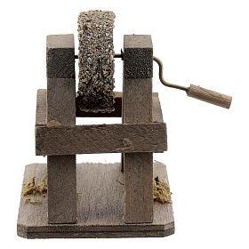 Rebolo para afiar miniatura madeira para presépio com figuras altura média 12-14 cm s1