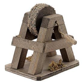 Rebolo para afiar miniatura madeira para presépio com figuras altura média 12-14 cm s2