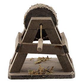 Rebolo para afiar miniatura madeira para presépio com figuras altura média 12-14 cm s3