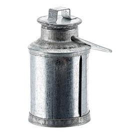 Latão para leite miniatura metal para presépio com figuras altura média 10-12 cm s2