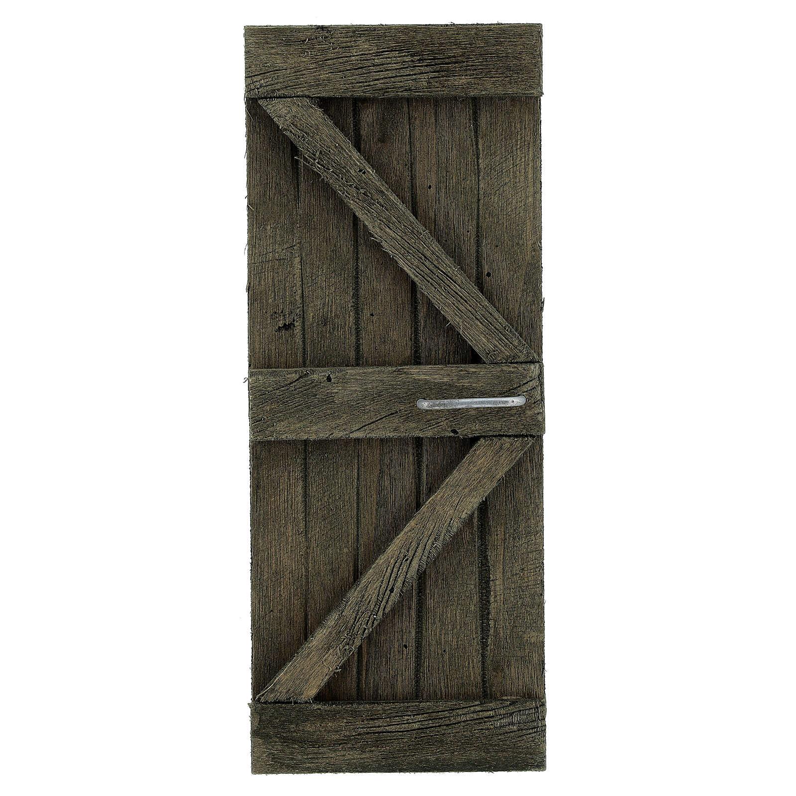 Coppia ante portone legno 20x5 cm per statue di 14-16 cm 4